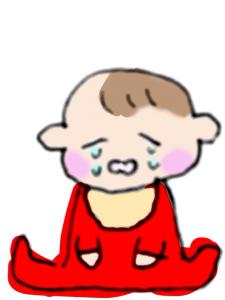 エーンエンと泣いている赤ちゃんのイラスト