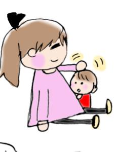 赤ちゃんをよしよしするお母さんのイラスト