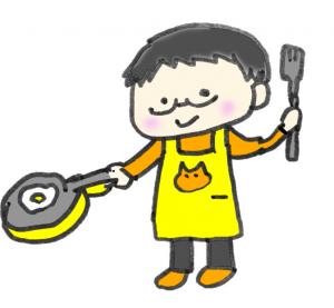料理上手な主夫のイラスト