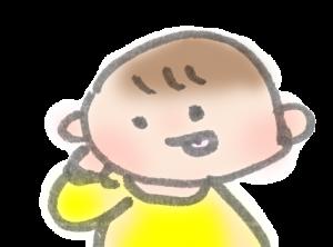 テヘペロしている赤ちゃんのイラスト