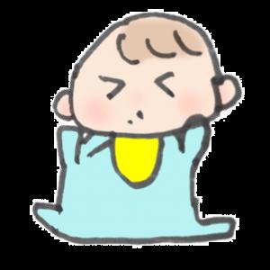 くしゃみをしている赤ちゃんのイラスト