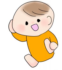 うふーんしている赤ちゃんのイラスト